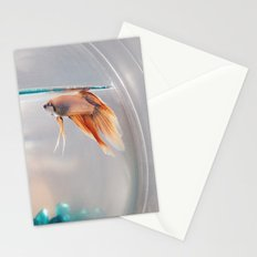 Fish in a fishbowl Stationery Cards