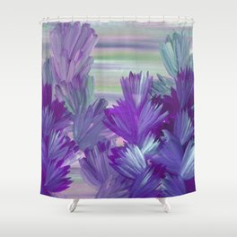 Evening Light Floral Painting 2 Shower Curtain