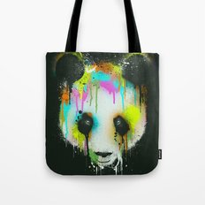 Technicolour Panda Tote Bag