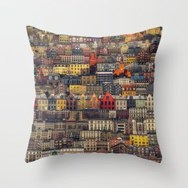 Copenhagen Facades Throw Pillow