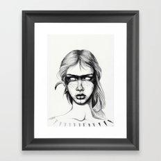 Nocturnal Warrior Sketch Framed Art Print