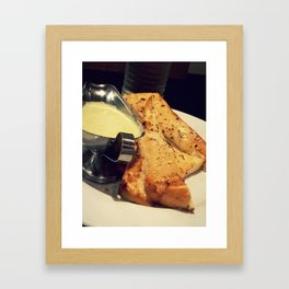 fondue and garlic bread Framed Art Print