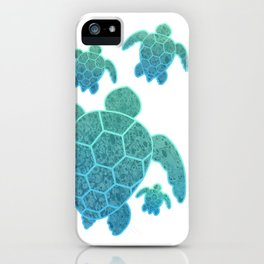 A Family of Sea Turtles iPhone Case