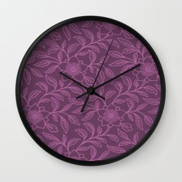 Bodacious Lace Floral Wall Clock