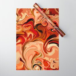 Marbled Abstract Red Sahara Desert Wrapping Paper