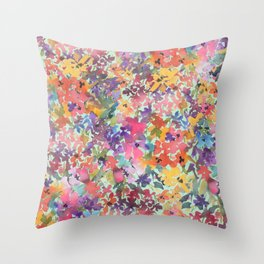 Prairie Wildflowers Throw Pillow
