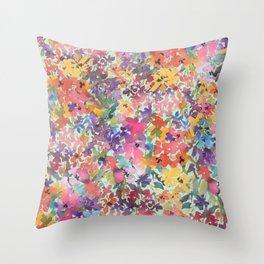 Prairie Wildflowers Throw Pillow