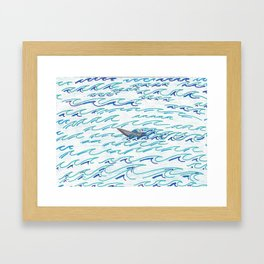 Alaskan Fisherman on the Ocean Framed Art Print