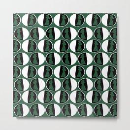 Dots Cardin Green Metal Print
