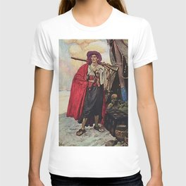 """""""Handsome Buccaneer"""" by Howard Pyle T-shirt"""