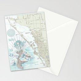 "Sarasota ""Anais Nin"" Mermaid quote area map Stationery Cards"