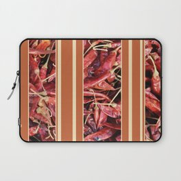 Chillies stripe pattern design orange Laptop Sleeve