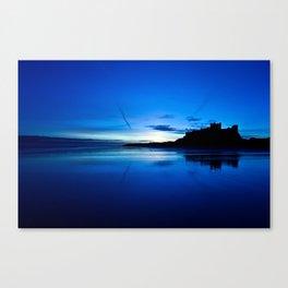 Blue Bamburgh Canvas Print