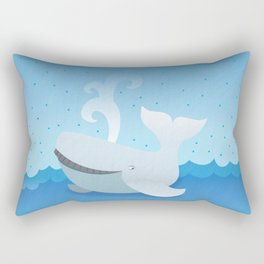 Humpback whale above the ocean waves Rectangular Pillow