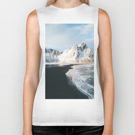 Iceland Mountain Beach - Landscape Photography Biker Tank