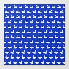 SWANS ((azure)) Canvas Print