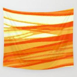 Orange Blur Wall Tapestry