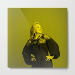 Meryl Streep - Celebrity (Florescent Color Technique) Metal Print