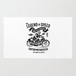 the legend of speed Rug