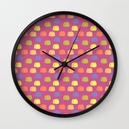 Juicy Jelly Collection: Purple Jelly Spots Wall Clock