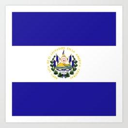El Salvador flag emblem Art Print