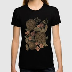 Botanic Garden MEDIUM Black Womens Fitted Tee
