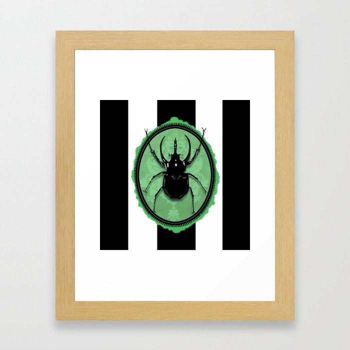 Juicy Beetle GREEN Framed Art Print