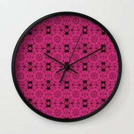 Pink Yarrow Pinwheels Wall Clock