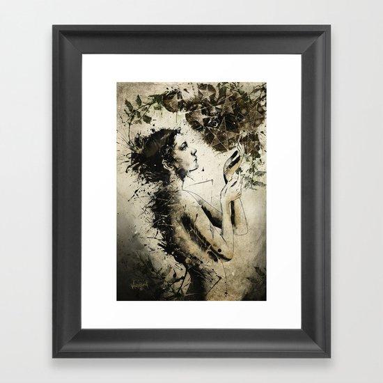 7 of Pentacles Framed Art Print