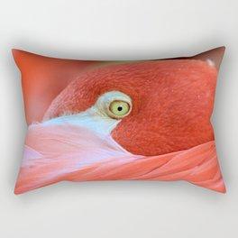 Watching Me Watching You Flamingo Rectangular Pillow