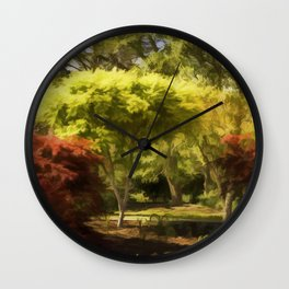 A Walk In The Woods Painting Wall Clock