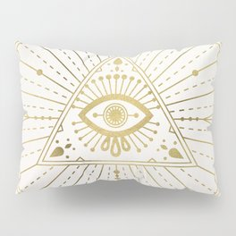 All-Seeing Eye Mandala – Gold Palette Pillow Sham