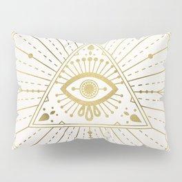 All-Seeing Eye Mandala – Gold Palette Pillow Sham