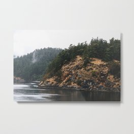Forest & Water Metal Print