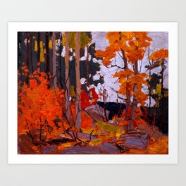Tom Thomson - Autumn, Algonquin Park - Canada, Canadian Oil Painting - Group of Seven Art Print