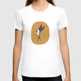 Swallow in Yellow Sky T-shirt