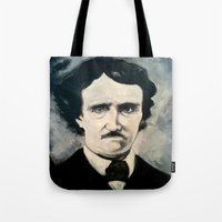 poe Tote Bags featuring Poe by Christopher Chouinard