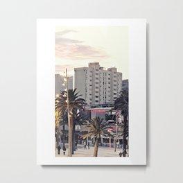 Barceloneta Malecon Metal Print