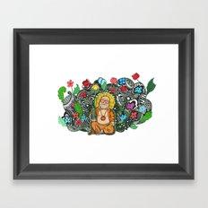 Bamboo Buddha Framed Art Print