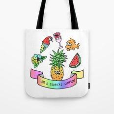 i am a tropical simpson Tote Bag