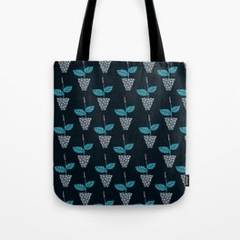 Potted Plants Dark Blue Tote Bag
