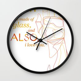 Made of Glass Wall Clock
