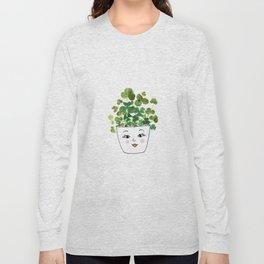 Shamrock Face Vase Long Sleeve T-shirt