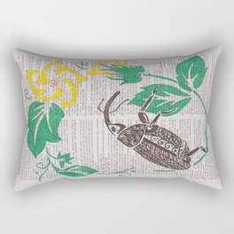 I Shall Fear No Weevil   (Boll Weevil and Cotton Blossoms) Rectangular Pillow