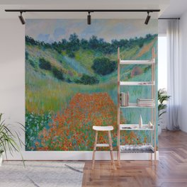 Claude Monet Impressionist Landscape Oil Painting Poppy Field in a Hollow near Giverny Wall Mural