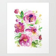 Peonies in Bloom Art Print