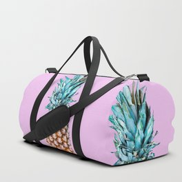 Pineapple On A Pink Background #decor #society6 #homedecor Duffle Bag