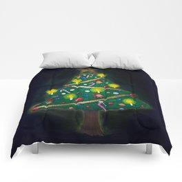 Christmas Eve - Christmas tree Comforters