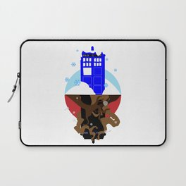 Upside Down Time Travel Laptop Sleeve
