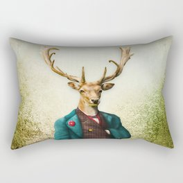 Lord Staghorne in the wood Rectangular Pillow
